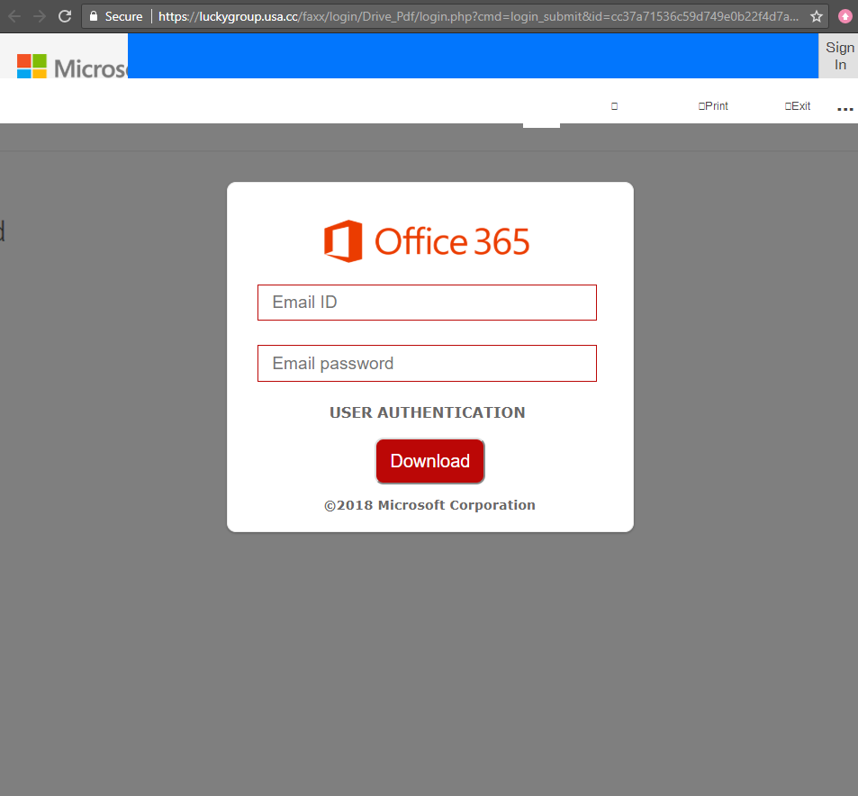 Microsoft Office365 Scam Email - Top Speed Computer Services